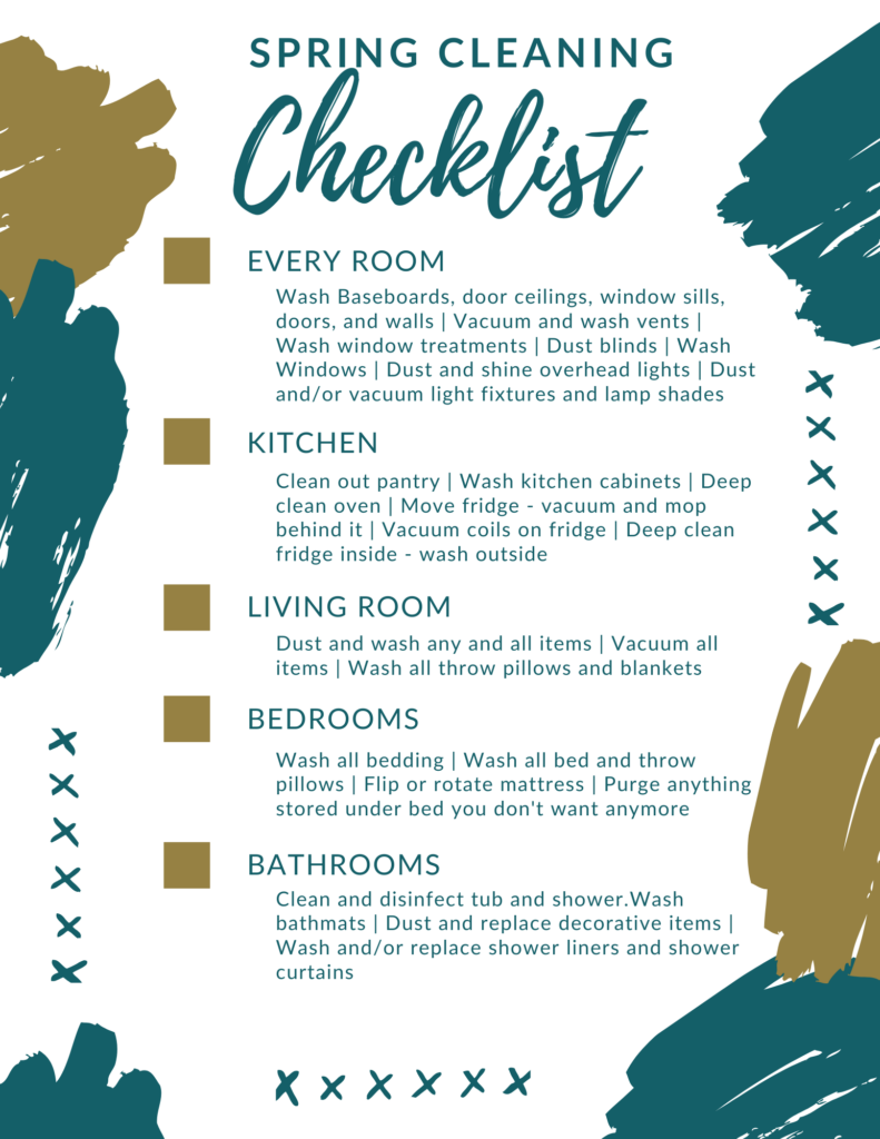 Spring Home Cleaning Checklist